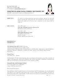 Sample Nursing Objectives For Resumes Entry Level Resume Objectives