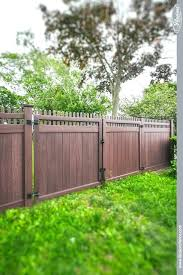 vinyl fence designs. Fence Pics Beautiful Vinyl Wood Grain Gates From Illusions Pallet Designs Privacy Design Ideas . Build Your Own Success Stories Panel