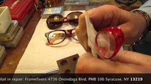 vintage plastic glasses lens removal and replacement