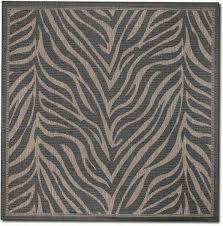 zebra area rug brown