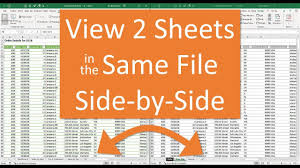 View Two Sheets Side By Side In The Same Excel File
