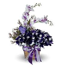 beautiful purple and white flowers. Unique Purple Vgoldenheart Lovely Chocolates Beautiful Purple Colored Bouquet With Light  White Flowers Arranged In A In Purple And White Flowers