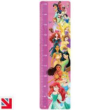 Disney Princess Height Growth Chart Wall Decal Sticker Vinyl