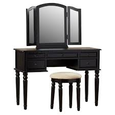 belleze makeup vanity table set with 3 mirror stool bedroom dressing table home furniture