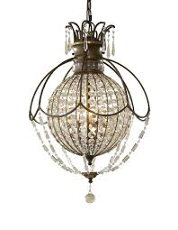 crystal globe chandelier and pearl light