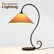 Minimalist Art Iron Table Lamp Simple Flying Arc Design Hand Knitted Linen  Fabric Light Shade Study Room LED lamp-in Table Lamps from Lights & Lighting  on ...