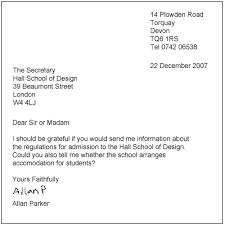 Letter dear sir and madam      SENDING