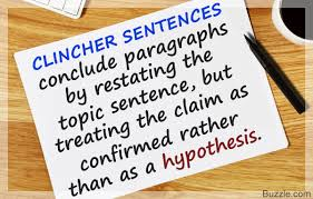 a simple guide to understanding the clincher sentence examples