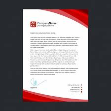 Red Letterhead Design Vector Free Download