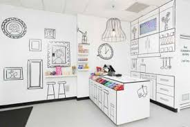 RED Design Group gets sketchy with a black-and-white store for Candy Room  in Melbourne, Australia. | Stay Display Inspired!