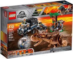 Đồ chơi lắp ráp LEGO Khủng Long Jurassic World 75929 - Đội Xe Săn Khủng  Long Carnotaurus (