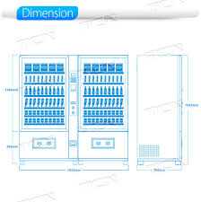 Vending Machines Dimensions Impressive China Multi Price Hot And Cold Drinks Soda And Snack Beverage
