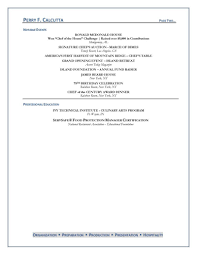 culinary resume 2 culinary resume objective and professional chef resume objective