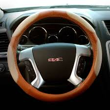 abn pvc leather steering wheel cover universal fit 15 inch wrap detail com