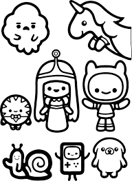 Small Picture Adventure Time Finn And Jack Child Coloring Page Wecoloringpage