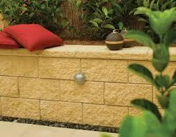 retainer wall blocks concrete footing