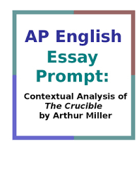 ap language the crucible teaching resources teachers pay teachers  ap english essay prompt contextual analysis of the crucible
