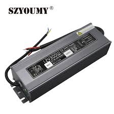 szyoumy 12 volt power supply 300w waterproof lighting transformers 25a led adapter 12v 300w 2pcs free