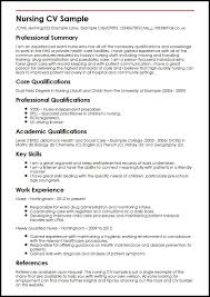 Best Resume Format For Nurses Classy Curriculum Vitae Sample For Nurses