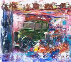 treasure classic car painting of an austin 7