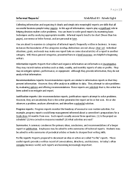 Informal Reports Memorandum Survey Methodology