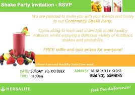 full herbalife shake party template business card