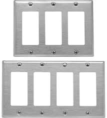 leviton decora stainless steel and
