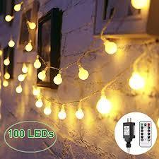 globe string lights 100 led decorative string lights outdoor plug in string lights waterproof fairy lights remote control 44 ft warm white string light