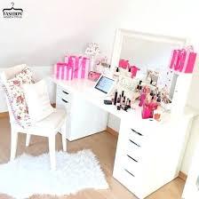 make up desk home accessory make up table makeup table desk mirror y pink white desk