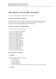 Accounts Receivable Coordinator Resume Sample Awesome Accounts
