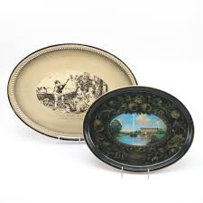 Decorative Metal Serving Trays Pairing of Decorative Metal Serving Trays EBTH 58