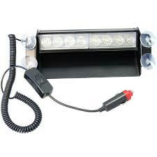 Đèn chớp Police xanh đỏ 12V 8W 8 LED gắn kính lái cho xe cảnh sát, xe ưu  tiên - Phụ kiện nội thất khác Hãng No brand