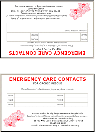 emergency contact template emergency contact card template 5 best professional templates