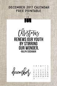 December 2017 Calendar Print Your Free Copy Today
