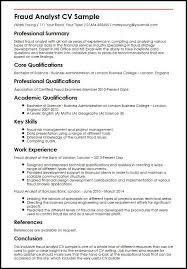 Sample Analyst Resume Fraud Analyst Cv Sample Myperfectcv
