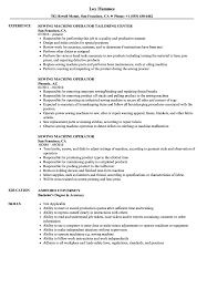Machine Operator Resume Sample Sewing Machine Operator Resume Samples Velvet Jobs 12