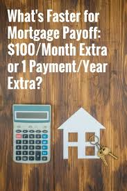 Mortgage Extra Payment Whats Faster For Mortgage Payoff 100 Month Extra Or 1 Payment