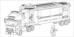 Small Picture Police Car Coloring Page Lego Printable Free Lego At City