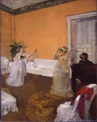 artist painting the rehearsal 1872 1873 by edgar degas