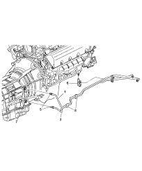 2004 dodge dakota transmission oil cooler lines diagram 00i80126