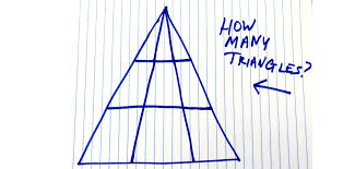This puzzle seems relatively benign. How Many Triangles Do You See Viral Math Problem Triangle