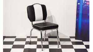 Bistrostuhl Elvis 4x Stuhl Schwarz Chrom 50er Jahre American Diner