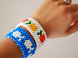 how to make fish and fruit perler bead woven bracelets