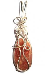 sunstone wire wrap pendant larger image
