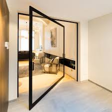 glass pivoting door with 360 hinge
