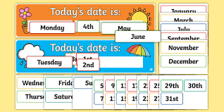 Todays Day And Date Display Pack Date Day Display Pack