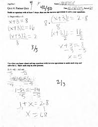 building and solving linear equations
