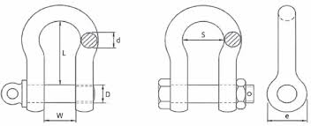 Shackle Weight Chart Bow Shackle Specifications Lifting Gear Safety