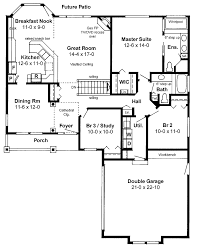 house plans with open floor plan. Ranch Style Open Floor Plan | Plans AFLFPW17669 - 1 Story Home With 3 House G
