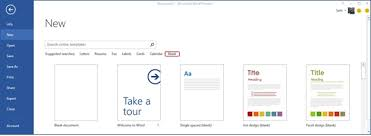 Microsoft 2013 Templates Starting From Blank Design Templates In The Word 2013